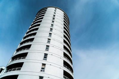 Tall apartment block