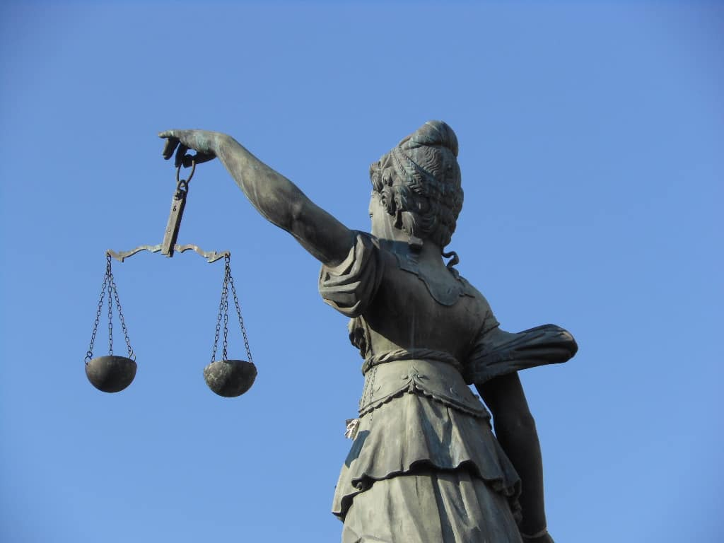 Scales of Justice in Frankfurt