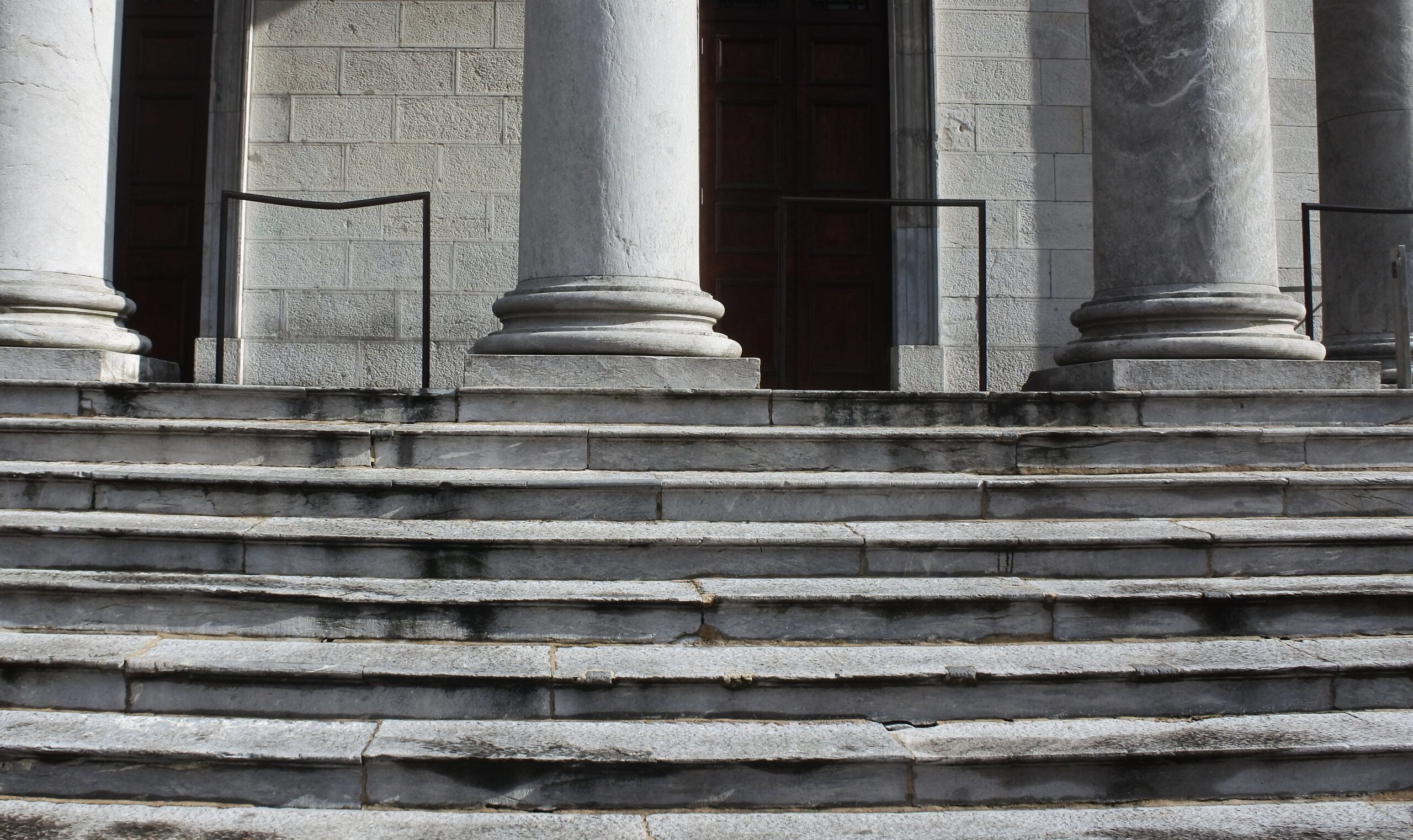 Court steps with columns